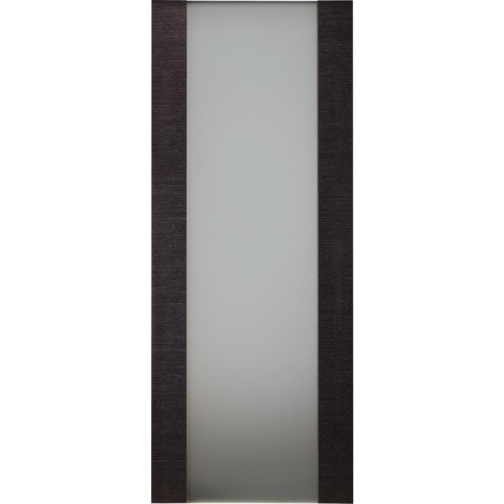 Belldinni 24 In X 80 Avanti 202 Black Apricot Finished Solid Core Wood 1 Lite Frosted Gl Interior Door Slab No Bore