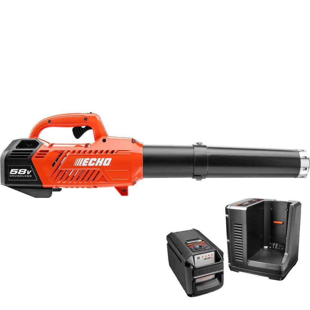 ECHO 145 MPH 550 CFM Variable-Speed Turbo 58-Volt Brushless Lithium-Ion Cordless Blower 2.0 Ah Battery and Charger Included