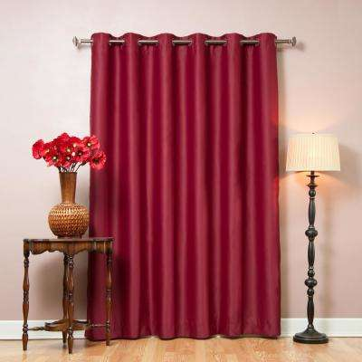 80 in. W x 96 in. L Burgundy Wide Flame Retardant Blackout Curtain Panel