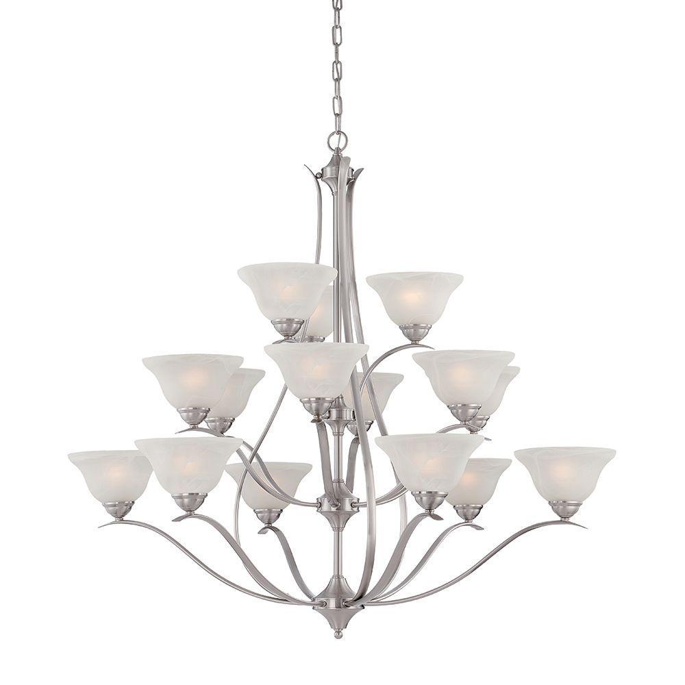 Prestige 15-Light Brushed Nickel Hanging Chandelier