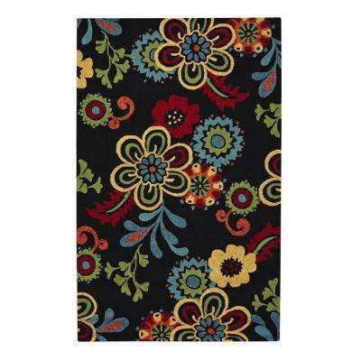 Tilly Black 8 ft. x 10 ft. Area Rug