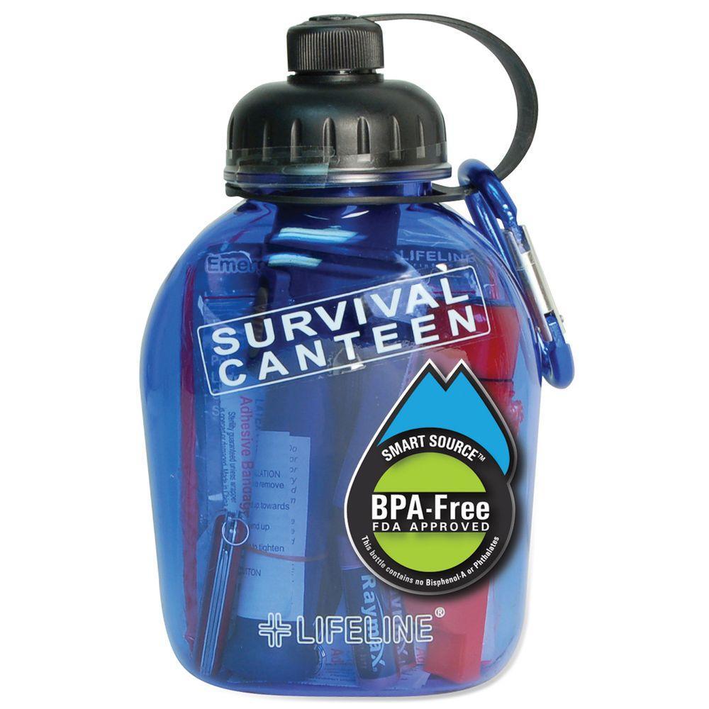Lifeline 20-Piece Water Bottle Survival Canteen First Aid Kit