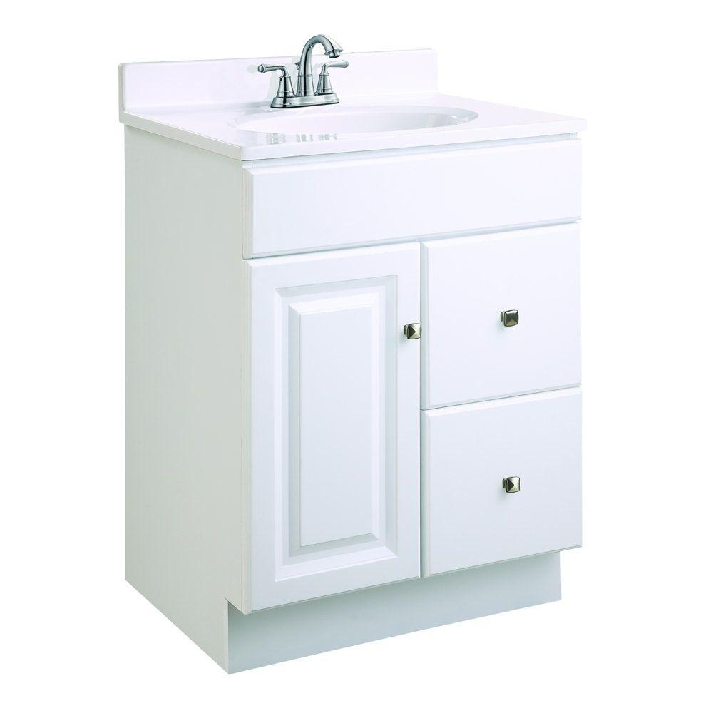 design house wyndham 24 in. w x 18 in. d unassembled vanity cabinet 24 Inch Bathroom Vanity with Drawers