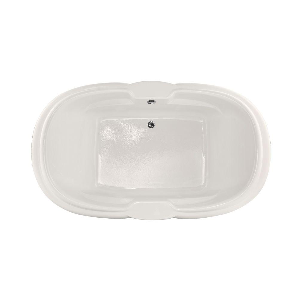 Hampton 6 ft. Reversible Drain Air Bath Tub in White