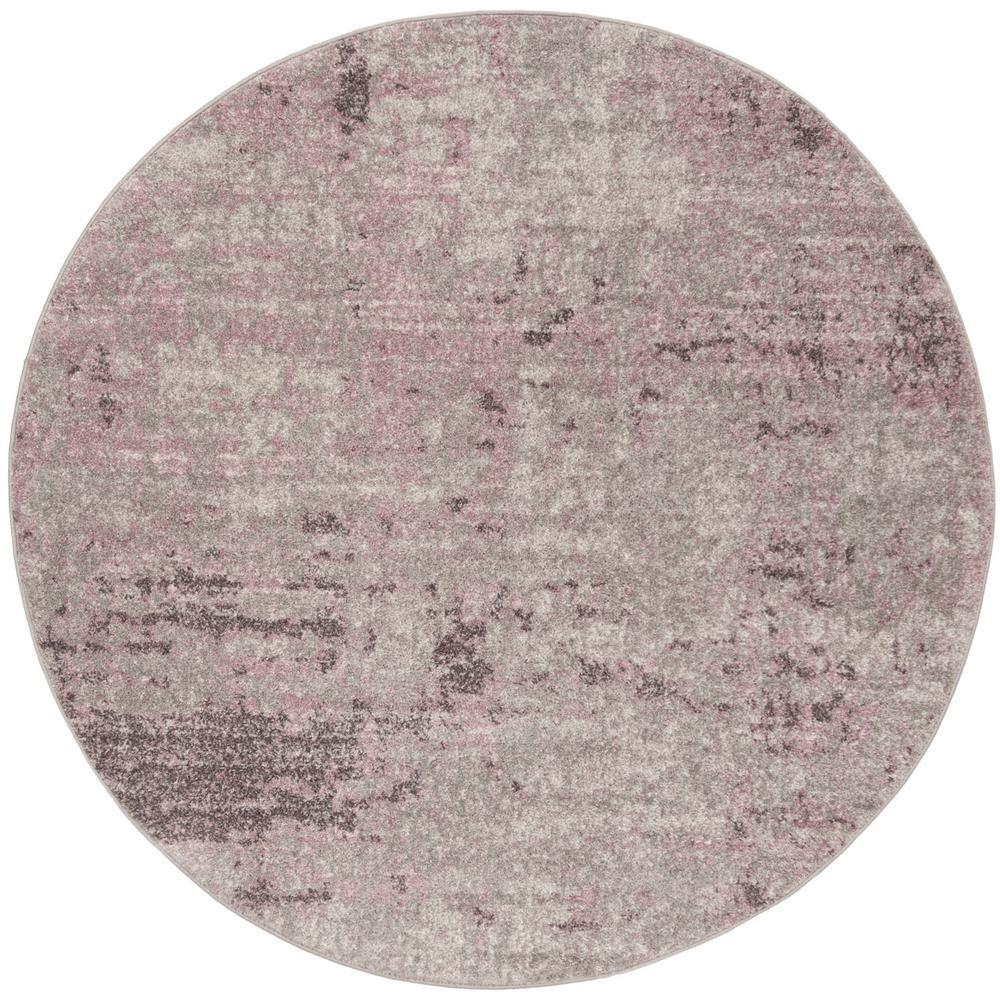 Purple Circle Rugs: Safavieh Adirondack Light Gray/Purple 8 Ft. X 8 Ft. Round