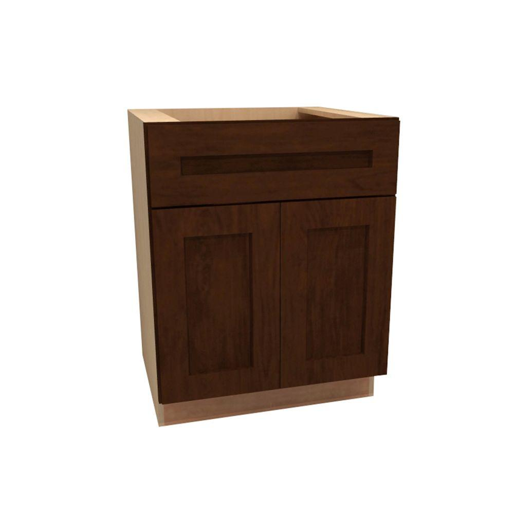 Assembled 24x34 5x24 In Drawer Base Kitchen Cabinet In: Home Decorators Collection Franklin Assembled 24x34.5x24