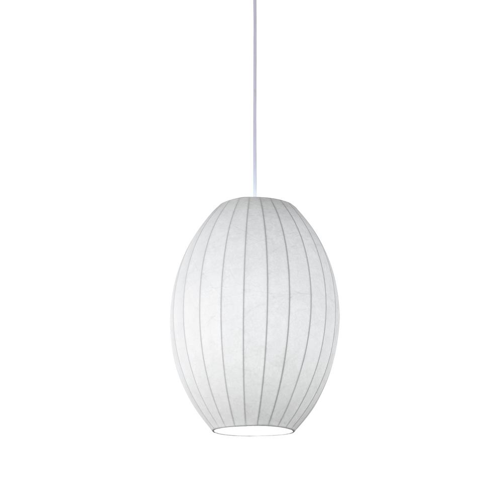 Kenroy Home Covey 1 Light White Silk Convertible Plug In Swag Pendant