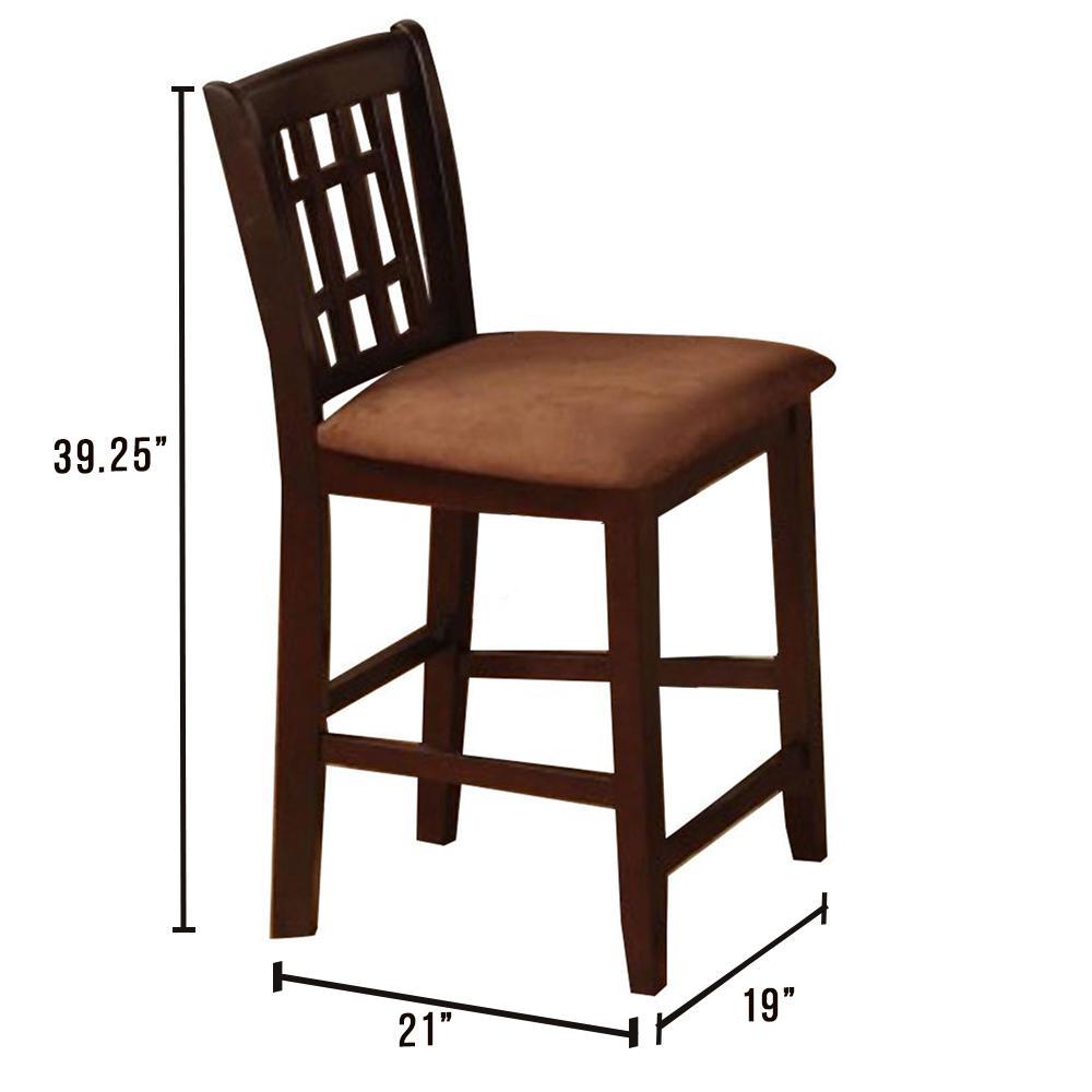 Eleanor Counter Ht. Chair in Espresso finish