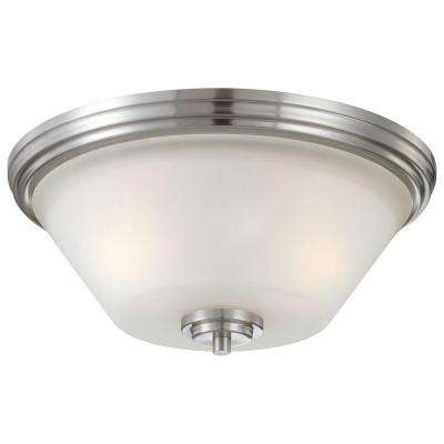 Pittman 2-Light Brushed Nickel Ceiling Flushmount