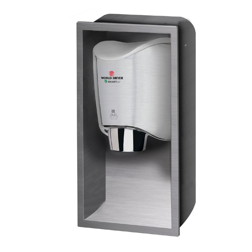 Recess Kit for SMARTdri / SMARTdri Plus Hand Dryers in Brushed Stainless Steel
