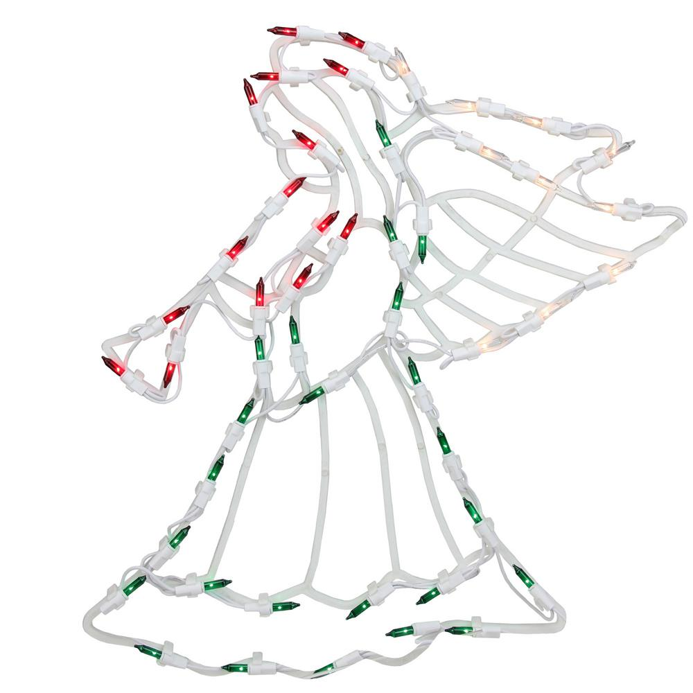 northlight 18 in  lighted angel christmas window silhouette decoration  4-pack -32631097