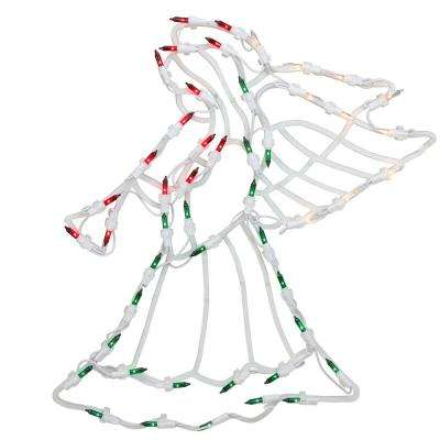 18 in. Lighted Angel Christmas Window Silhouette Decoration (4-Pack)
