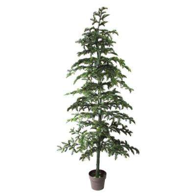6.5 ft. Potted Green Spruce Artificial Topiary Tree