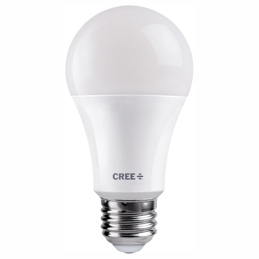 Cree 75W Equivalent Bright White (3000K) A19 Dimmable Exceptional Light Quality LED Light Bulb