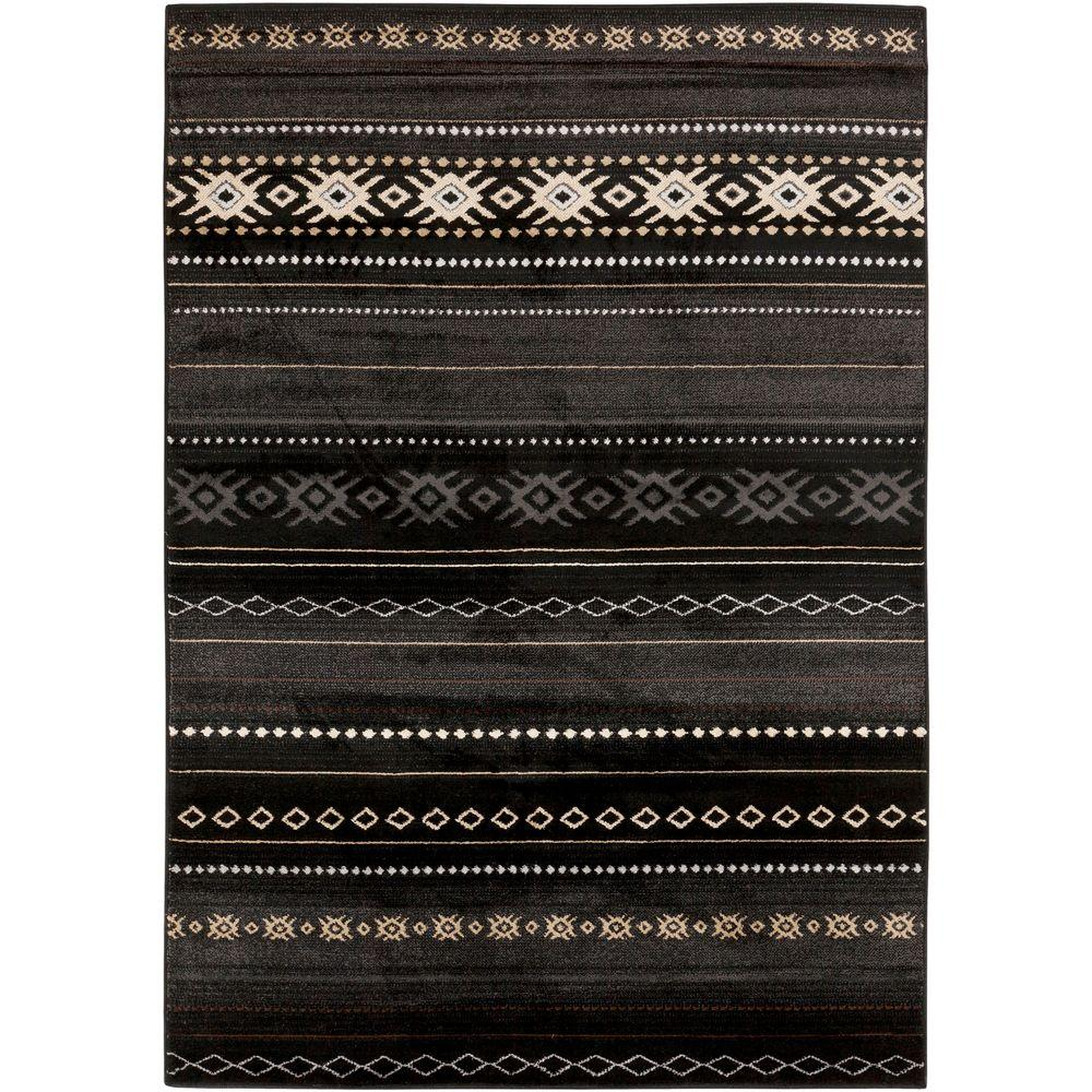 Zuni Black 6 ft. 7 in. x 9 ft. 6 in. Indoor Area Rug