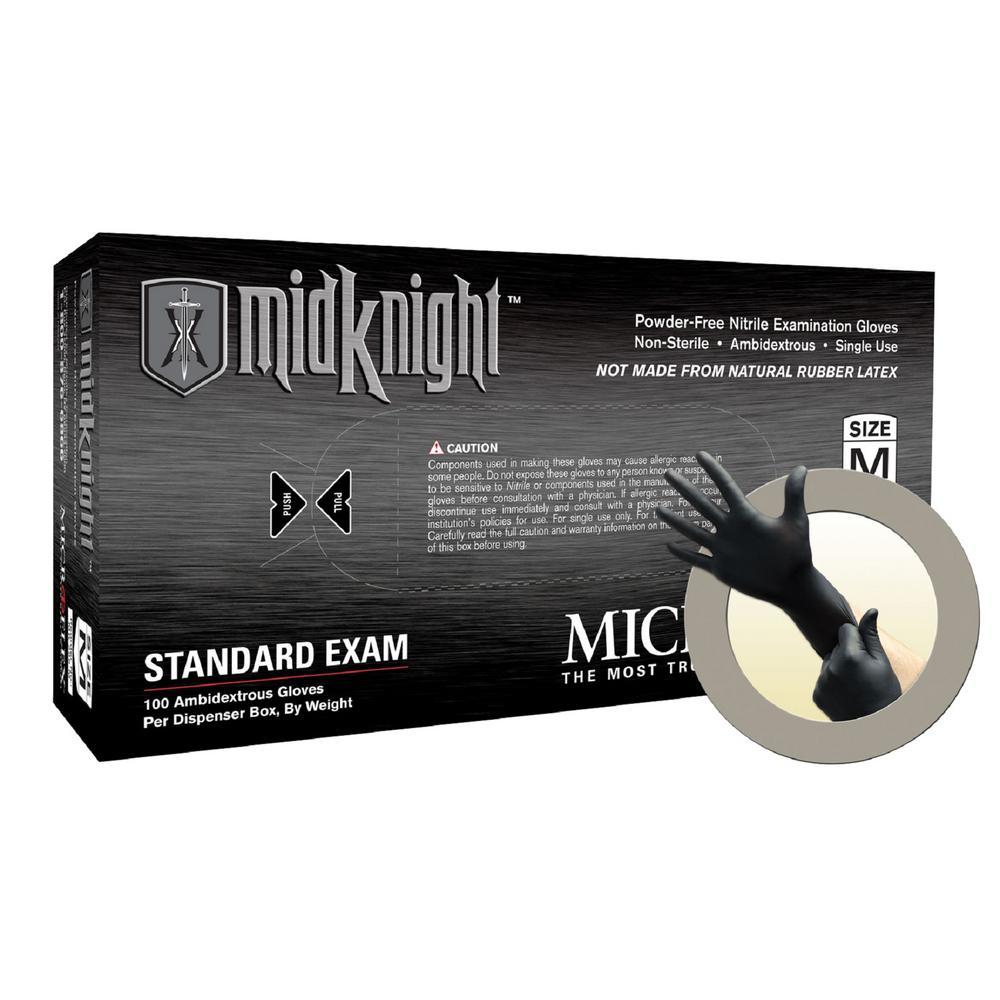 Micro Flex GLV MIDKNT XL BLK 100/10CS NITRL PWDRFR DISP