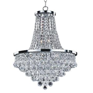 Glow Lighting Vista 8-Light Faceted Crystal Ball and Chrome Chandelier by Glow Lighting