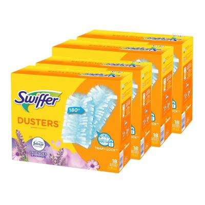 180 Duster Multi-Surface Refills with Febreze Lavender Vanilla and Comfort Scent (18-Count) (4-Pack)