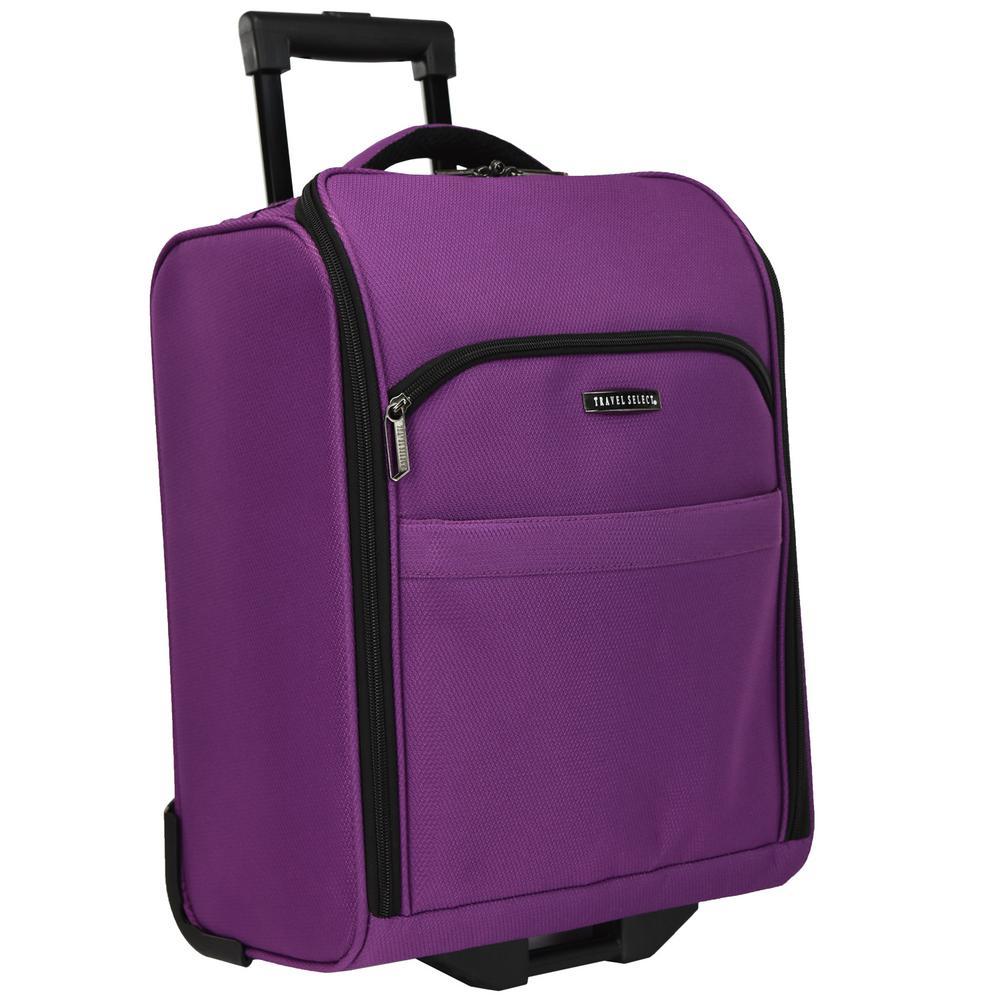 Rolling Underseat Purple Luggage