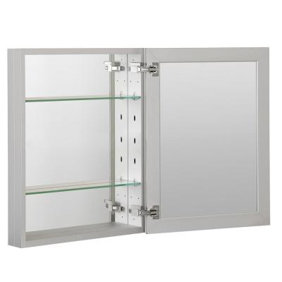 16 in. x 20 in. Recessed or Surface Frameless 1-Door Medicine Cabinet with 2-Adjustable Shelves