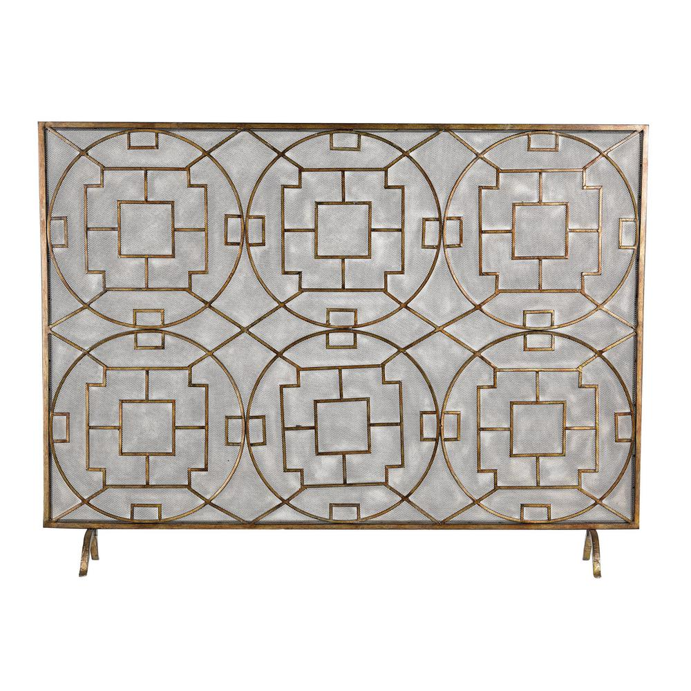 Titan Lighting Geometric Single Panel Fireplace Screen