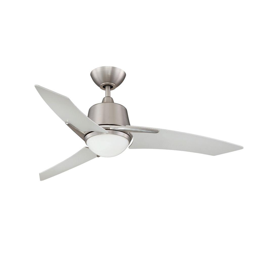 Designers Choice Collection Scimitar 44 in. Satin Nickel Ceiling Fan