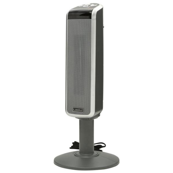 Pedestal Tower 29 in. 1500-Watt Electric Ceramic Oscillating Space Heater with Digital Display and Remote Control