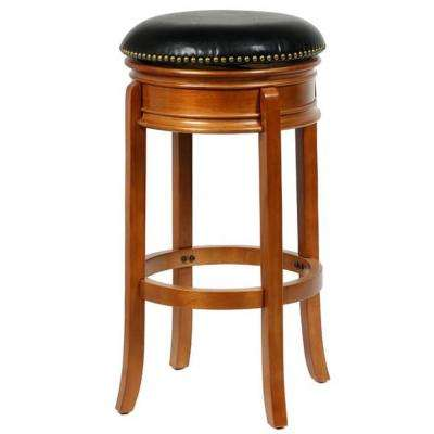 Bristol 24 in. Oak Swivel Bar Stool