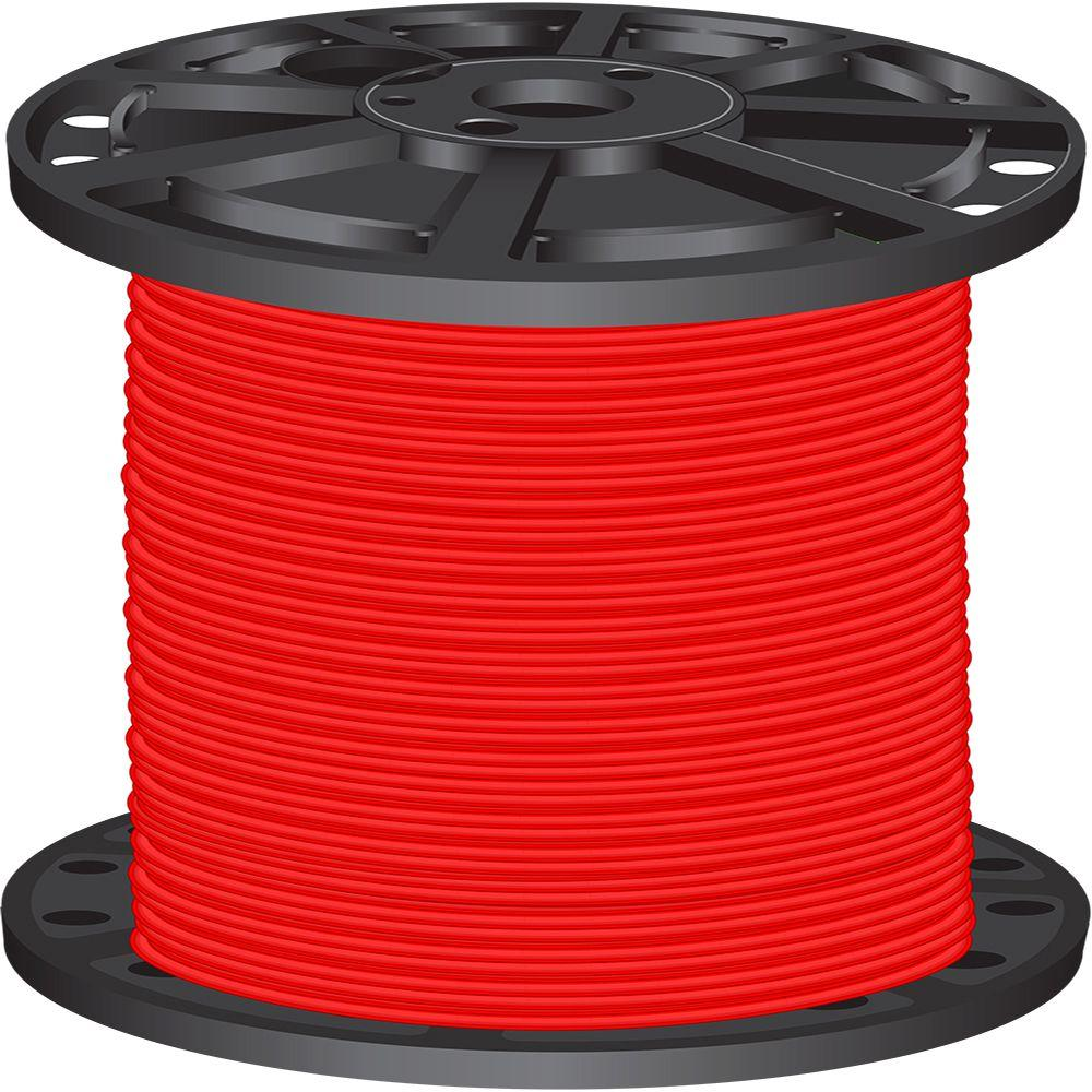 2,500 ft. 8 Red Stranded CU SIMpull THHN Wire