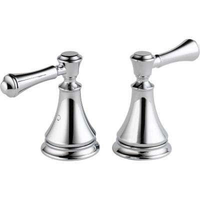 Pair Of Cassidy Metal Lever Handles For Roman Tub Faucet In Chrome