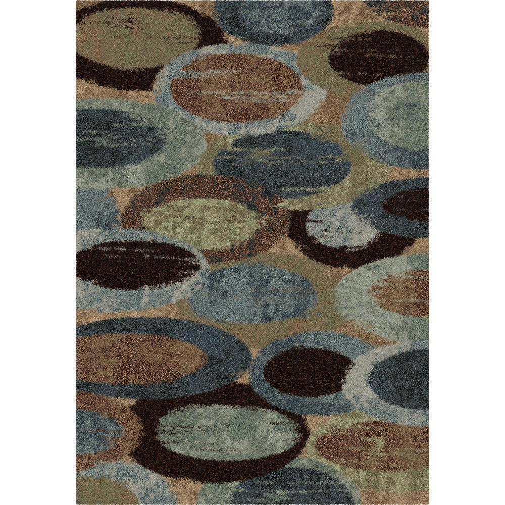 Orian Rugs Bubbles Blue Shag 5 Ft. X 8 Ft. Indoor Area Rug