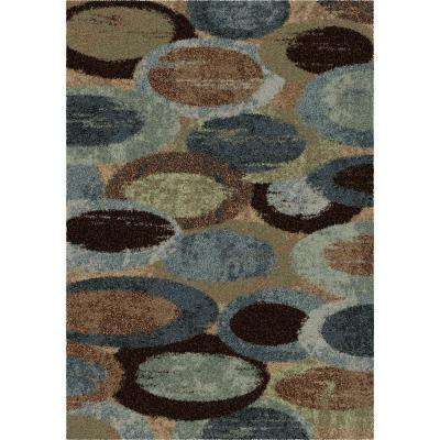 Bubbles Blue Shag 5 ft. 3 in. x 7 ft. 6 in. Indoor Area Rug