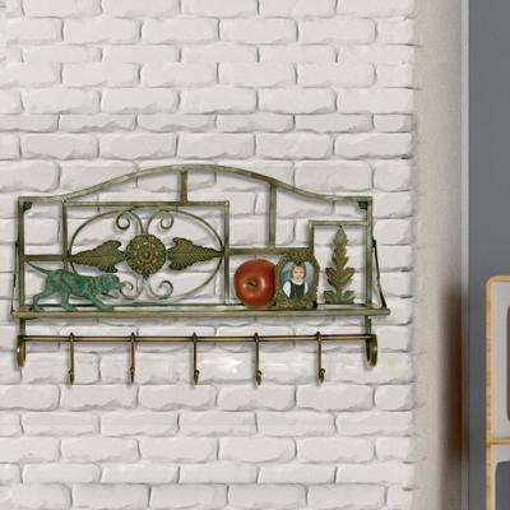 1-Shelf 22 in. W x 13.5 in. H Metal Wall Shelf