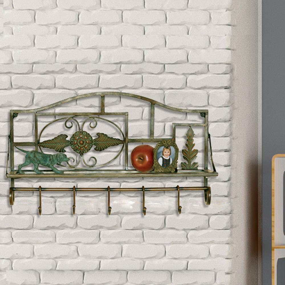 1-Shelf 22 in. W x 13.5 in. H Metal Wall Shelf-2503 - The Home Depot