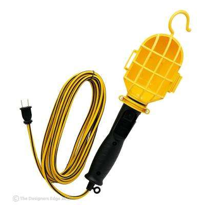 75-Watt 6 ft. 18/2 SJTW Incandescent Portable Guarded Trouble Work Light with Hanging Hook
