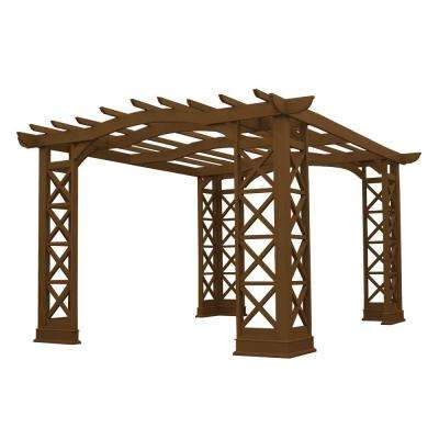 12 ft. x 14 ft. Wood Arched Roof Tugboat Pergola