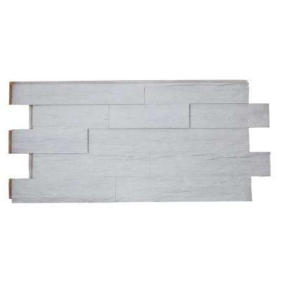 Superior Time Weathered Faux Rustic 1-1/4 in. x 48 in. x 23 in. Country Cottage White Polyurethane Interlocking Panel