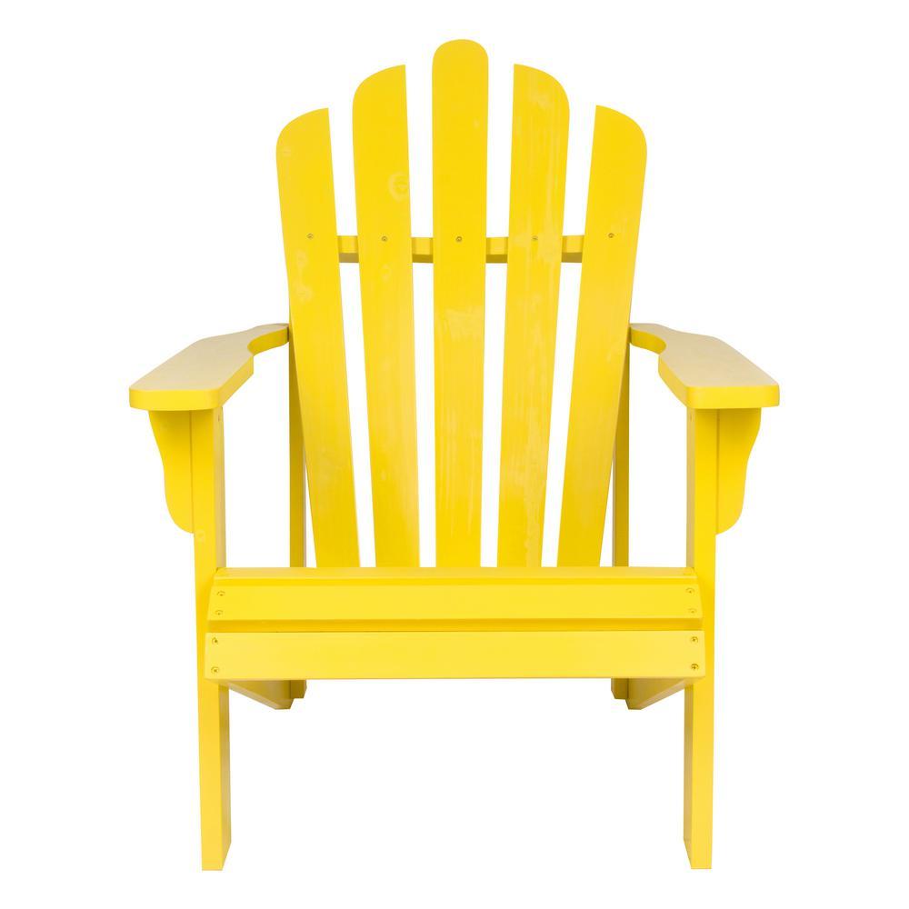 Westport Lemon Yellow Cedar Wood Adirondack Chair
