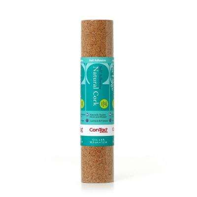 Multi-Purpose Specialty 12 in. x 4 ft. Cork Self-Adhesive Drawer and Shelf Liner (6 rolls)