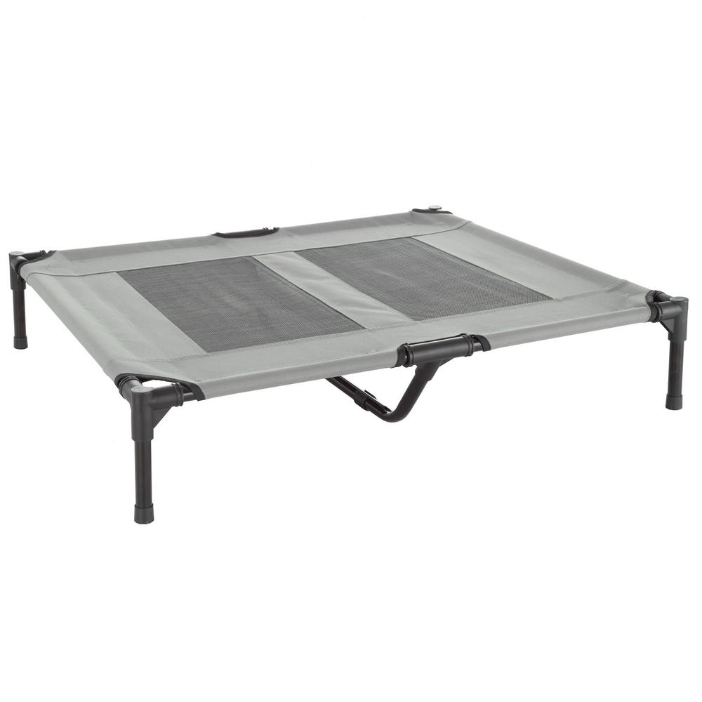 Petmaker Large Gray Elevated Pet Bed Hw3210136 The Home
