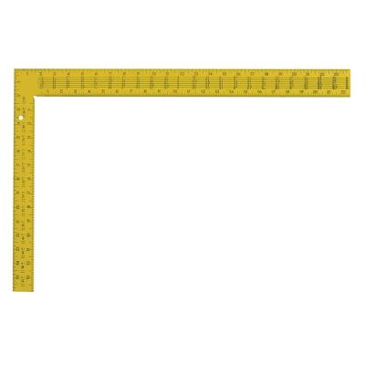16 in. x 24 in. Steel Rafter Square, Yellow