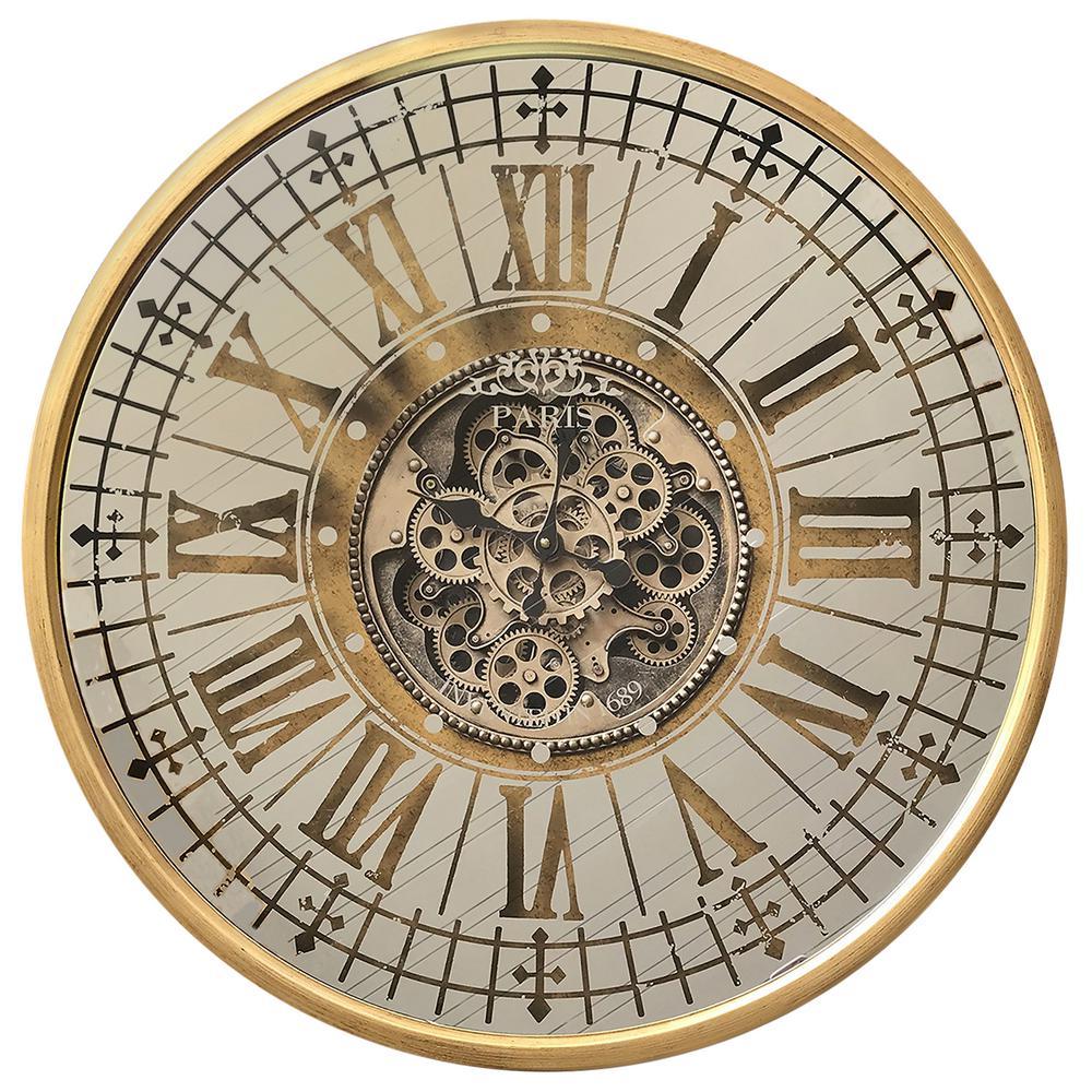 yosemite home decor golden gears antique gold wall clock
