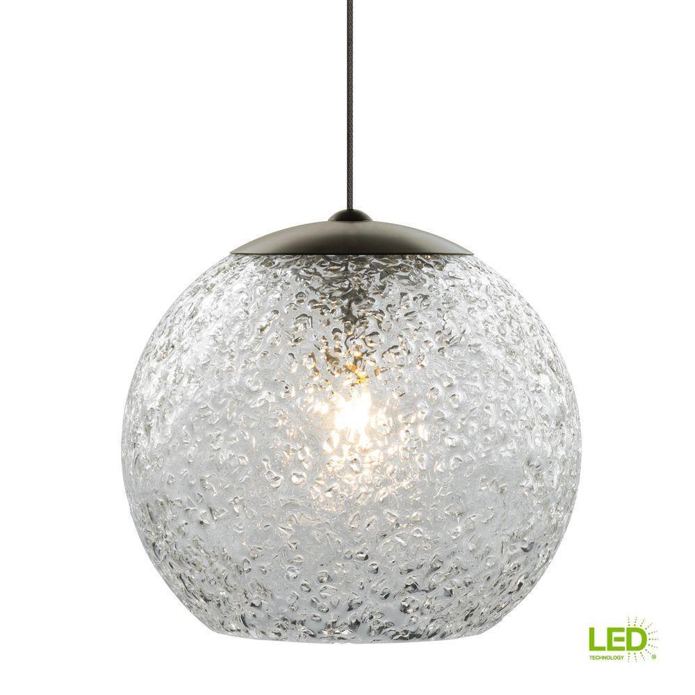 Lbl Lighting Mini Rock Candy Round 1 Light Bronze Clear Led Hanging Pendant