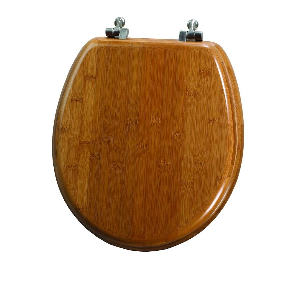 Bemis Natural Reflections Round Closed Front Toilet Seat In Bamboo