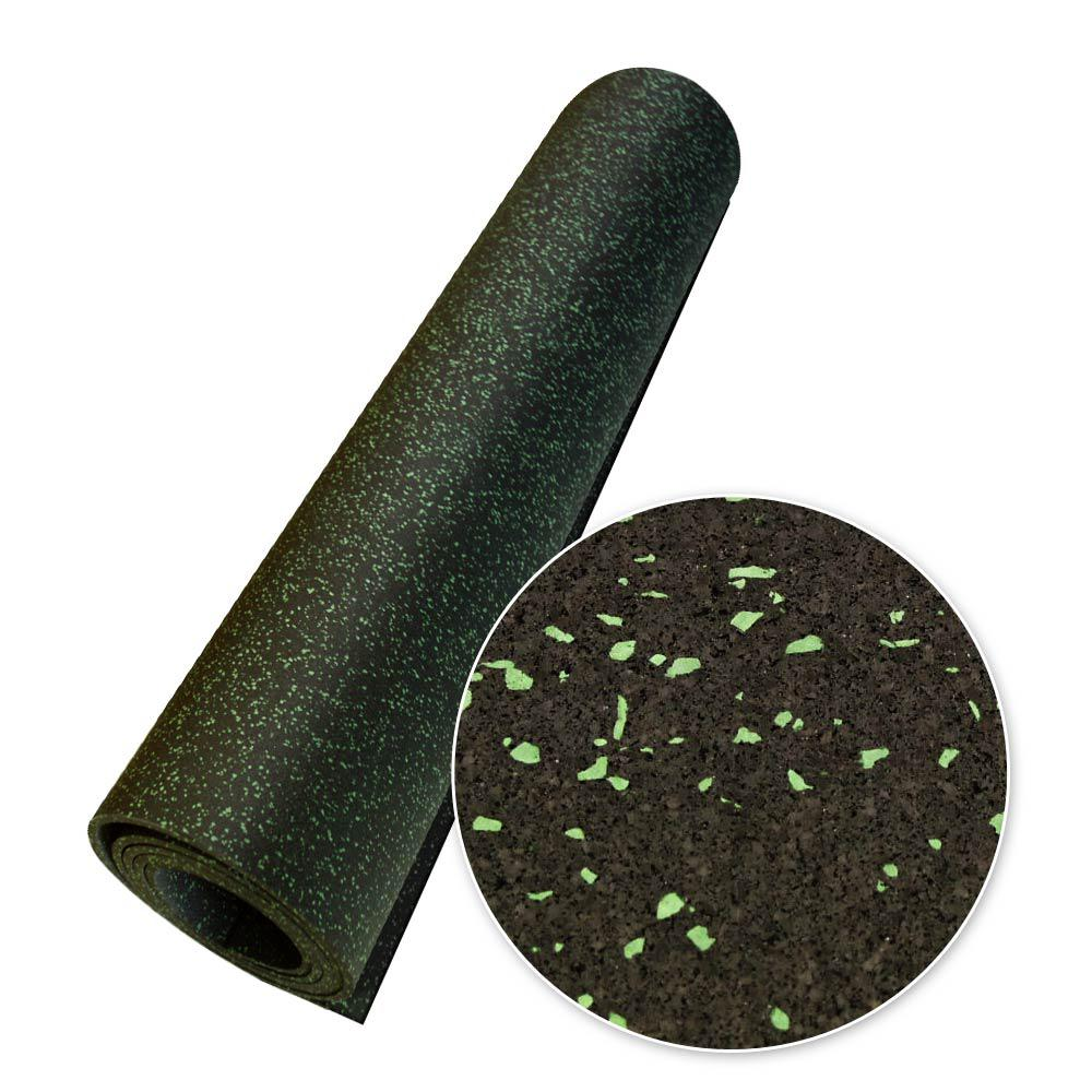 Rubber-Cal Elephant Bark Green Dot 0.375 in. Thick x 4 ft...