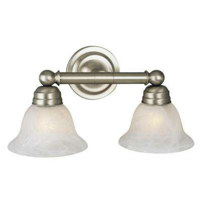 Negron 2-Light Pewter Incandescent Bath Vanity Light
