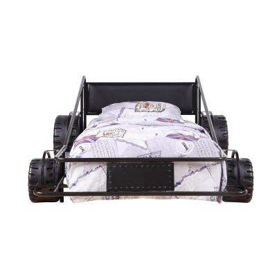 Taban Black and Black PU Twin Bed