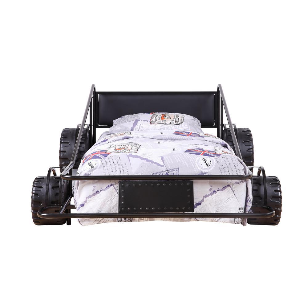 Acme Furniture Taban Black and Black PU Twin Bed 38080T