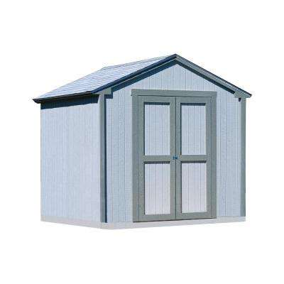 Kingston 8 ft. x 8 ft. Wood Shed Kit with Floor Frame