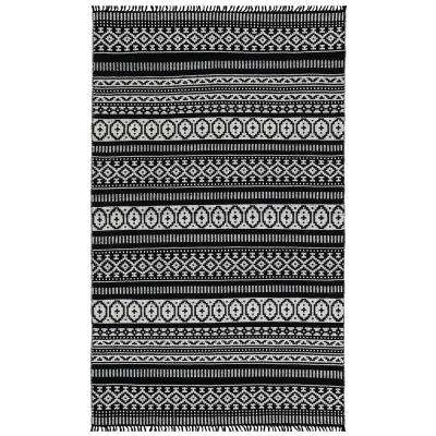 Black Geo 4 ft. x 6 ft. Area Rug